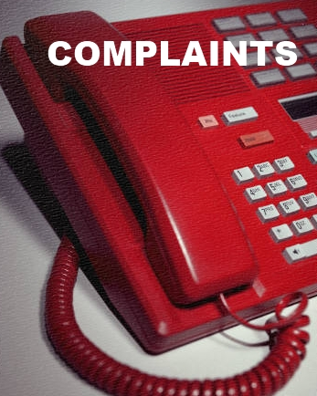 Image of phone with complaints